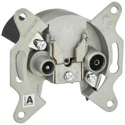 SCHWAIGER IEC-Antennendose, Silber, Aluminium, Breitbandkabel- und SAT-Anlagen