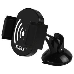 EUFAB Induktionsladegerät mit Handyhalter, Schwarz, Micro-USB-A / USB-B