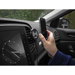 EUFAB Induktionsladegerät mit magn. Handyhalter, LxBxH: 5 x 7 x 7 cm, Schwarz