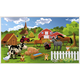 Papermoon Infrarotheizung »EcoHeat - Farm Kindermotiv«, Matt