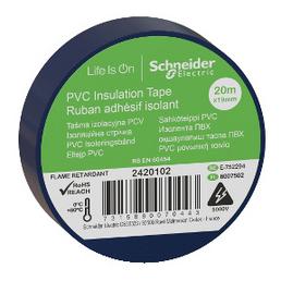 Schneider Electric Isolierband, Kunststoff, Blau, 19 mm x 20 m, Stärke: 0,15 mm