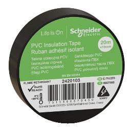 Schneider Electric Isolierband, Kunststoff, Schwarz, 19 mm x 20 m, Stärke: 0,15 mm