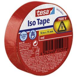 TESA Isolierband, rot, Breite: 1,5 cm, Länge: 10 m