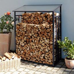 BECKMANN Kaminholzlager »Standard«, Breite: 128 cm, Dach: Polycarbonat-Doppelstegplatten, anthrazit