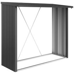 BIOHORT Kaminholzlager »WoodStock 230«, BxHxL: 229 x 199 x 102 cm, dunkelgrau-metallic