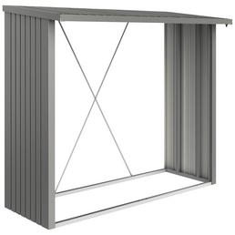 BIOHORT Kaminholzlager »WoodStock 230«, BxHxL: 229 x 199 x 102 cm, quarzgrau-metallic