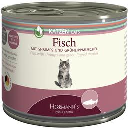 HERMANNS MANUFAKTUR Katzen Nassfutter, 12 Dosen à 200 g
