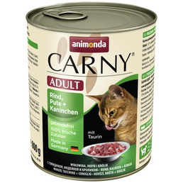 CARNY® Katzen-Nassfutter »Adult«, Rind/Pute/Kaninchen, 800 g