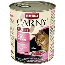 CARNY® Katzen-Nassfutter »Adult«, Rind/Pute/Shrimps, 800 g