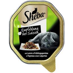 SHEBA Katzen Nassfutter »Empfehlung der Saison«, Lamm / Frühlingsgemüse, 22x85 g