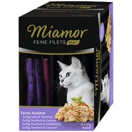 MIAMOR Katzen Nassfutter »Feine Auslese«, Mix, 4x1,6 kg