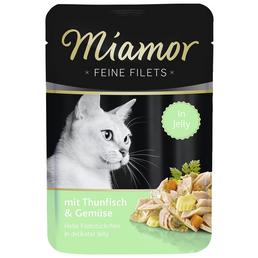 MIAMOR Katzen Nassfutter »Feine Filets in Jelly«, Thunfisch / Gemüse, 24x100 g