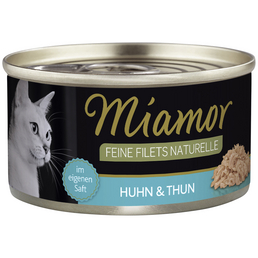 MIAMOR Katzen Nassfutter »Feine Filets Naturelle«, 24 Dosen à 80 g
