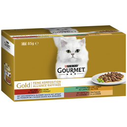 GOURMET Katzen Nassfutter »Feine Komposition«, Mix, 12x4,08 kg
