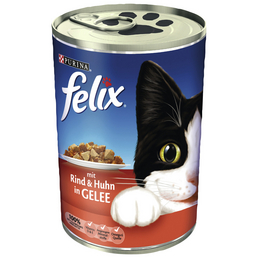 FELIX Katzen Nassfutter »FELIX Häppchen in Gelee«, 24 Dosen à 400 g