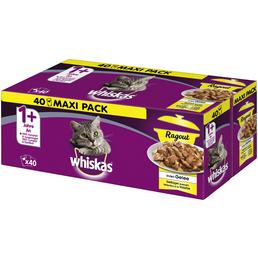 WHISKAS Katzen-Nassfutter, Geflügel, 1 x 40 x 85 g