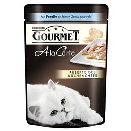 GOURMET Katzen Nassfutter »Gourmet a la Carte«, Forelle, 24x85 g