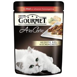 GOURMET Katzen Nassfutter »Gourmet a la Carte«, Rind / Gemüse, 24x85 g