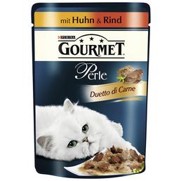 GOURMET Katzen Nassfutter »Gourmet Perle Duetto di Carne«, 24 Beutel à 85 g