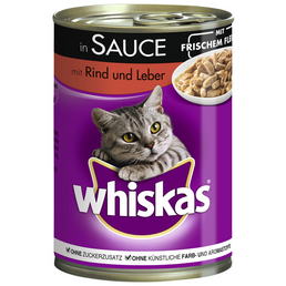 WHISKAS Katzen Nassfutter »in Sauce«, 12 Dosen à 400 g