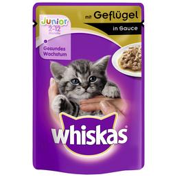 WHISKAS Katzen Nassfutter »in Sauce«, 24 Beutel à 100 g