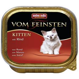 VOM FEINSTEN Katzen-Nassfutter »Kitten«, Rind, 100 g