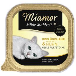 MIAMOR Katzen Nassfutter »Milde Mahlzeit«, 16 Schalen à 100 g