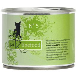catz finefood Katzen Nassfutter »N° 5«, Lachs / Geflügel, 6x200 g