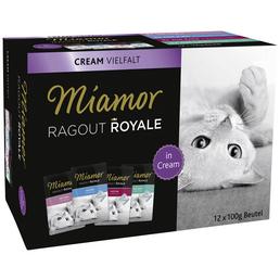 MIAMOR Katzen Nassfutter »Ragout Royal«, Huhn / Kalb / Ente / Lachs, 5x6 kg