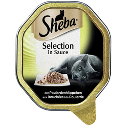 SHEBA Katzen Nassfutter »Selection in Sauce«, Poularde, 22x85 g