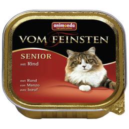 VOM FEINSTEN Katzen-Nassfutter »Senior«, Rind, 100 g