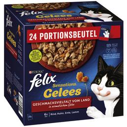 PURINA Katzen Nassfutter »Sensations Gelees«, 4 Kartons à 8160 g