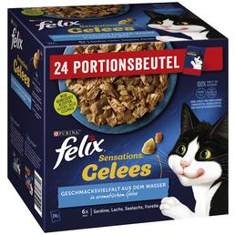 PURINA Katzen Nassfutter »Sensations Gelees«, Sardinen / Lachs / Seelachs / Forelle, 4x8,16 kg