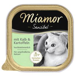 MIAMOR Katzen Nassfutter »Sensible«, 16 Schalen à 100 g