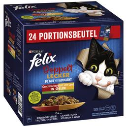 PURINA Katzen Nassfutter »So gut wie es aussieht - Doppelt lecker«, 4 Kartons à 8160 g