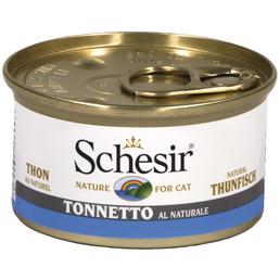 SCHESIR Katzen Nassfutter, Thunfisch, 24x85 g