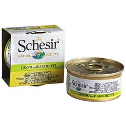 SCHESIR Katzen Nassfutter, Thunfisch / Sardellen, 4x70 g