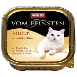 ANIMONDA Katzen Nassfutter »Vom Feinsten«, Rind / Huhn, 32x100 g