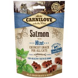 carnilove Katzensnack »Crunchy Snack«, 50 g, Lachs/Minze