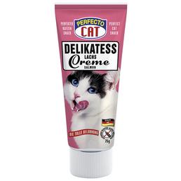 PERFECTO CAT Katzensnack »Delikatess Creme«, Lachs, 12x75 g