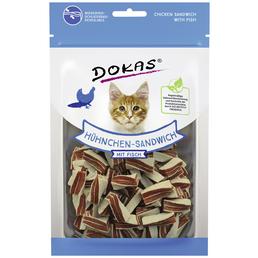 DOKAS Katzensnack »Hühnchen-Sandwich«, Geflügel  /  Fisch, 10x70 g