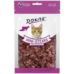DOKAS Katzensnack »Mini-Steaks«, Rind  /  Fisch, 10x40 g