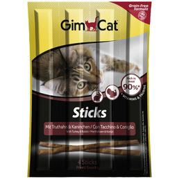 GIMCAT Katzensnack »Sticks«, Geflügel  /  Kaninchen, 24x20 g
