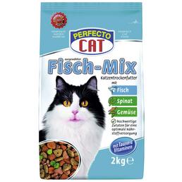 PERFECTO CAT Katzentrockenfutter »Fleisch-Mix«, 6 Beutel à 2000 g