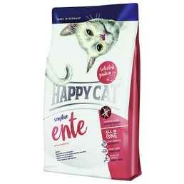 HAPPY CAT Katzentrockenfutter »Sensitive «, Ente, 4 kg