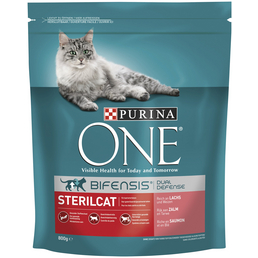 Purina ONE® Katzentrockenfutter »Sterilcat«, Lachs, 0,8 kg