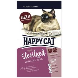 HAPPY CAT Katzentrockenfutter »Sterilized«, 4 Stück à 1400 g