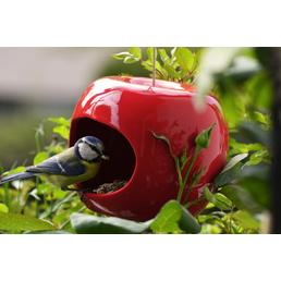 LUXUS-VOGELHAUS Keramik-Futterspender 3er Set Apfel