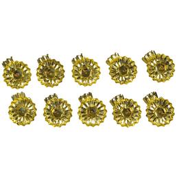 CASAYA Kerzenständer Rund, Format: Ø 3,5 x 3, 10 Stück