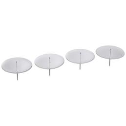 CASAYA Kerzenständer Rund, Format: Ø 7,5 x 5, 4 Stück